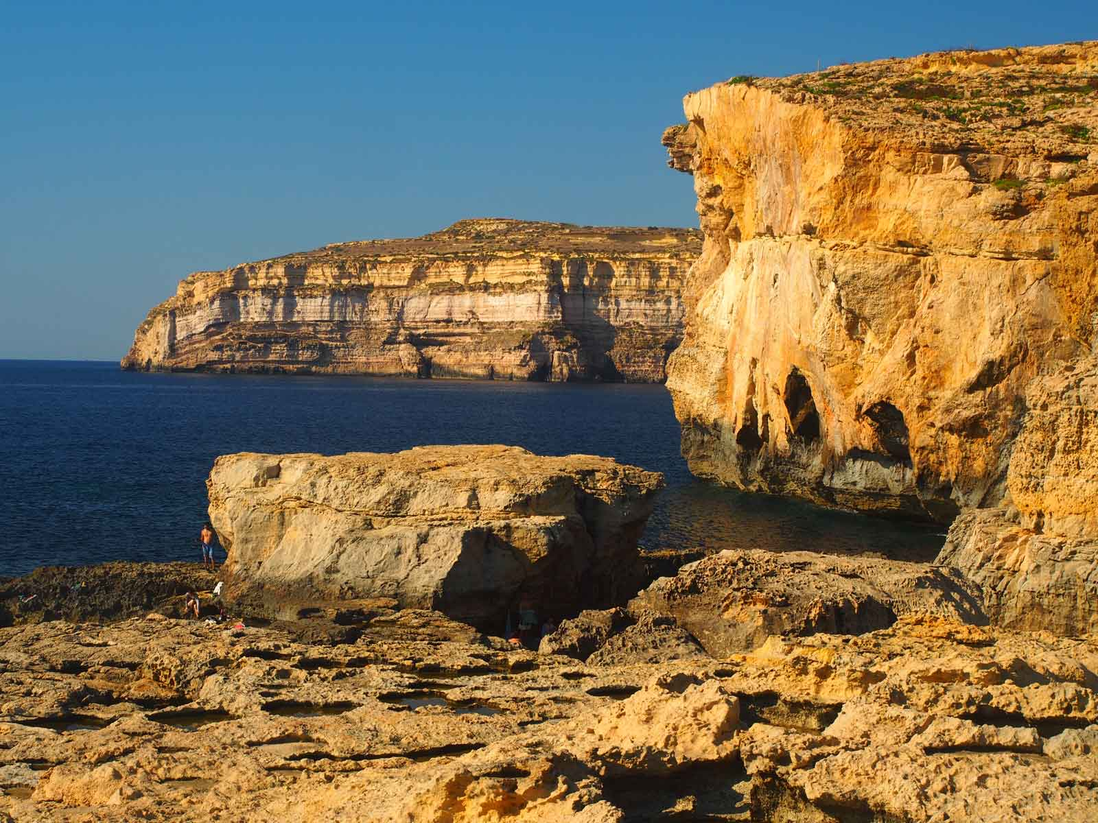 Limestone at Dwejra Point Malta
